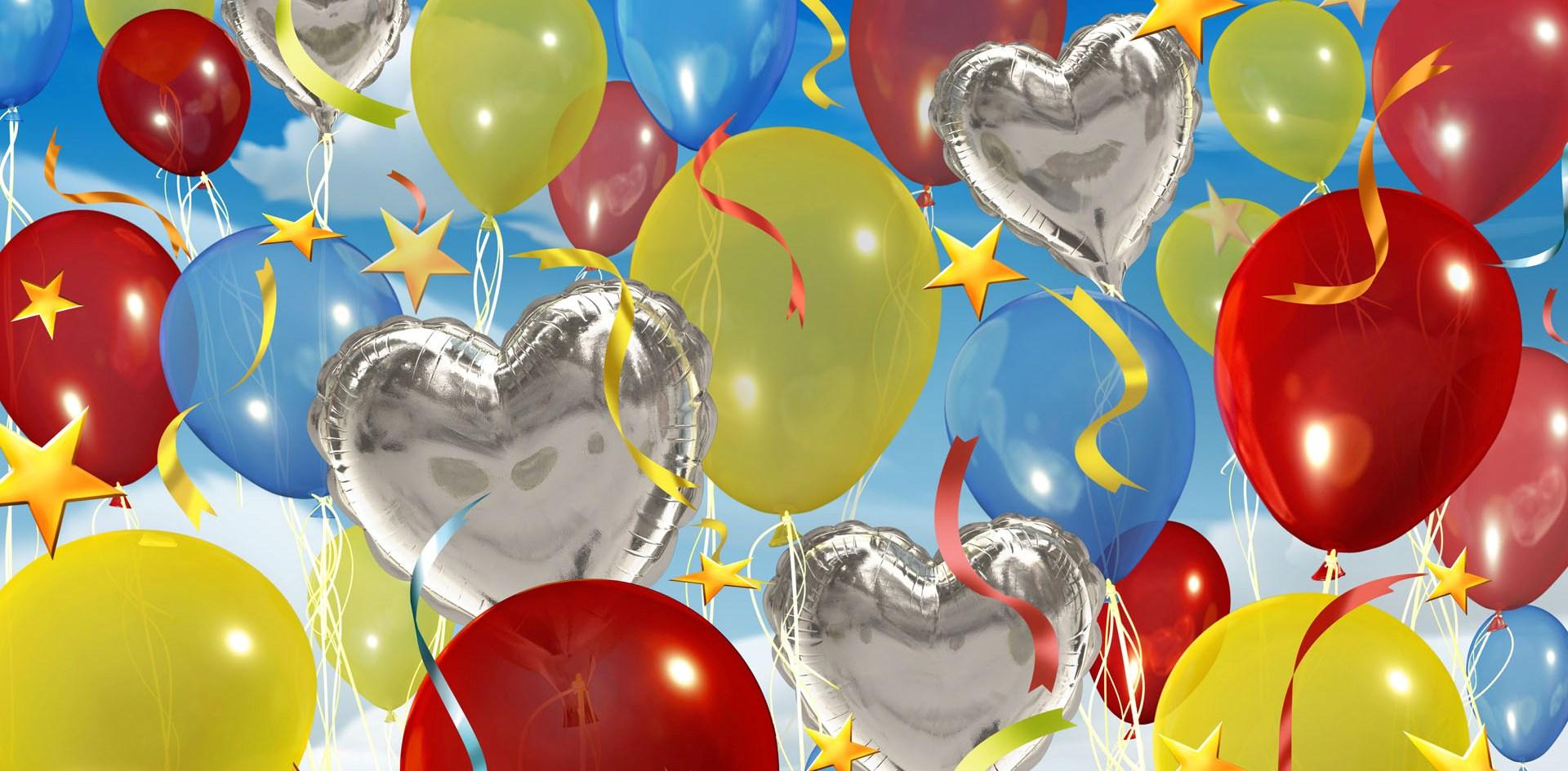 Поздравления воздушными шариками с днем рождения